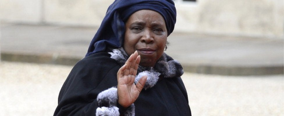 African Union chairperson Nkosazana Dlamini-Zuma arrives at the Elysee palace to participate in the Elysee summit for peace and safety in Africa on December 6, 2013, in Paris