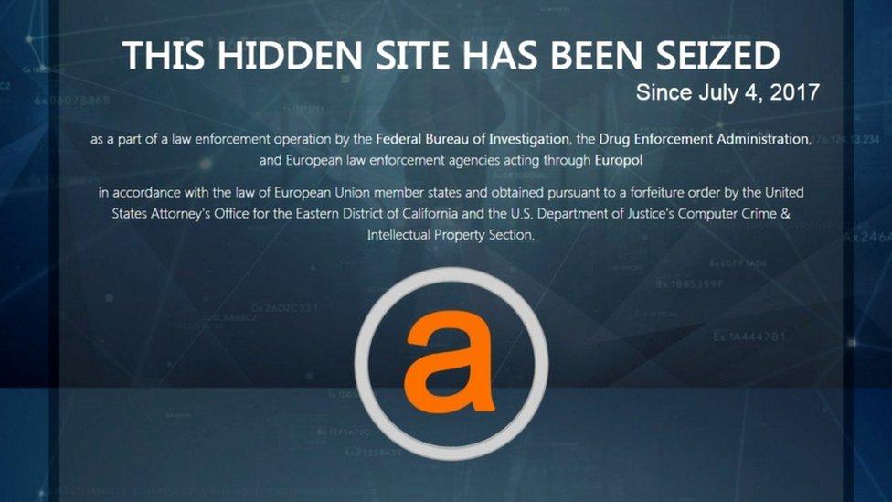 Seized noticed on AlphaBay