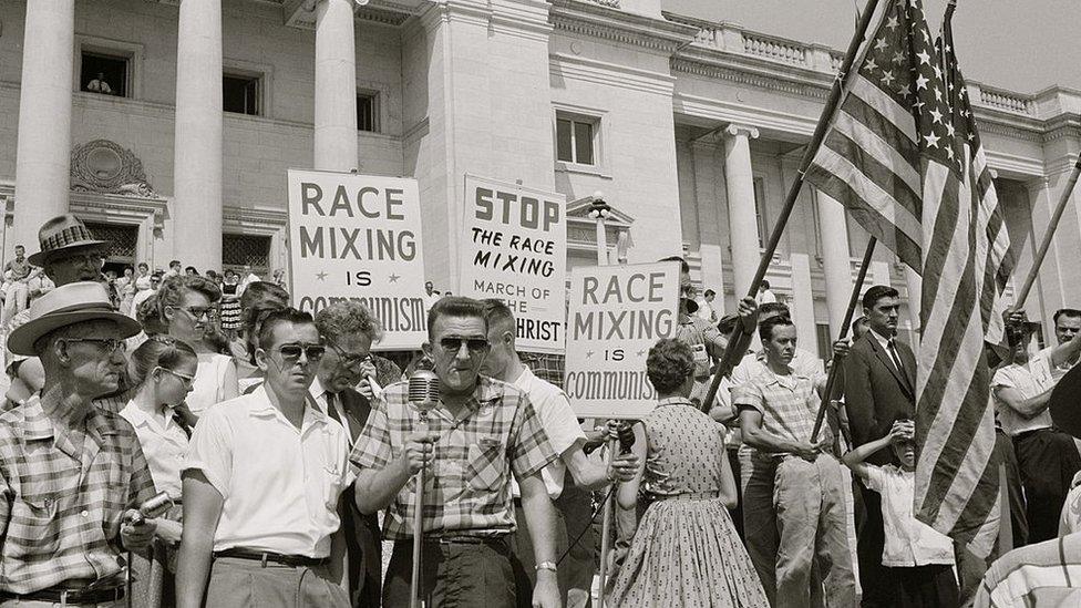 Imagen de 1959 de una protesta en Little rock.