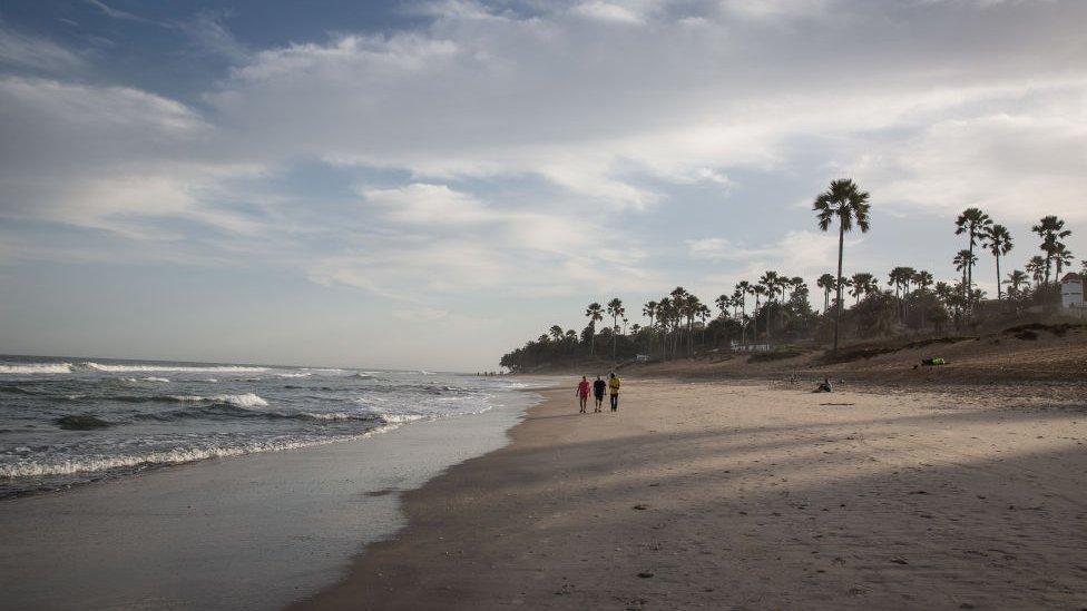 A beach in Serrekunda, Gambia