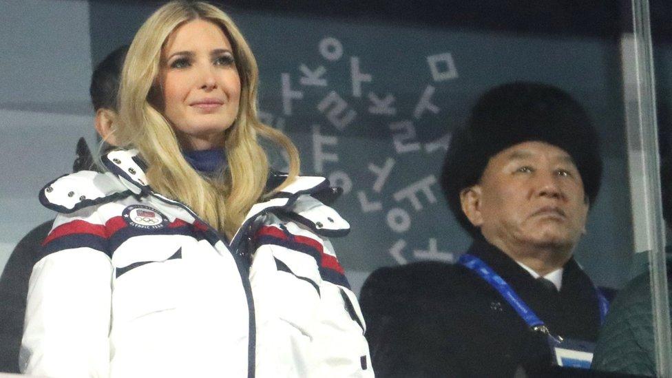 Ivanka Trump y Kim Yong Chol