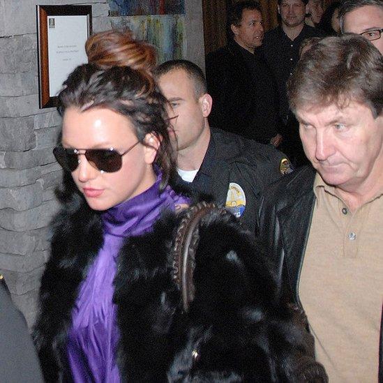 Britney y su padre en 2008