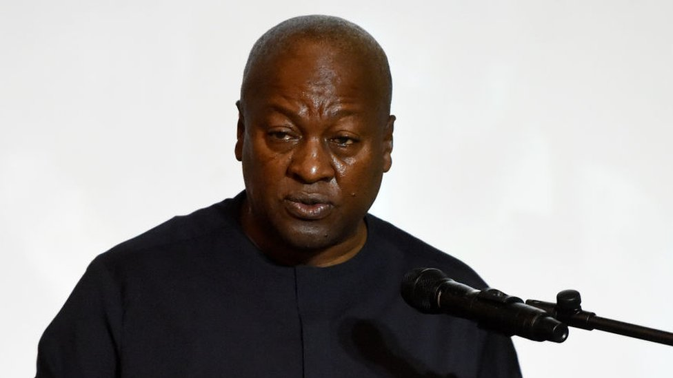 Former Ghanaian President and candidate of the opposition National Democratic Congress (NDC) John Dramani Mahama