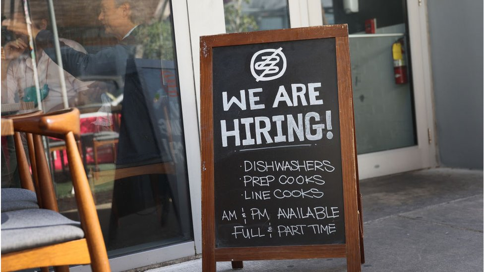 Some restaurants, like this one in Miami, have started hiring again