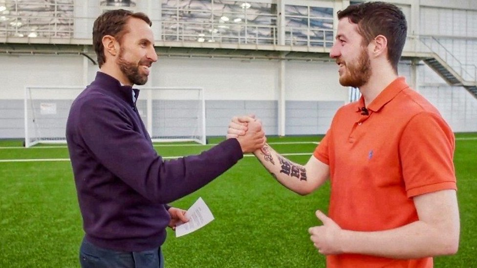 Gareth Southgate's surprise for former football hooligan