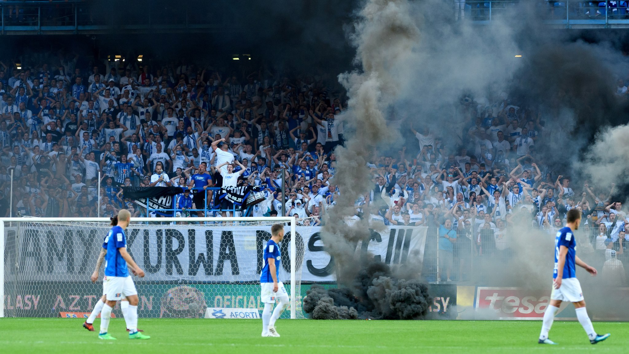 Legia Warsaw win Polish title after game abandoned
