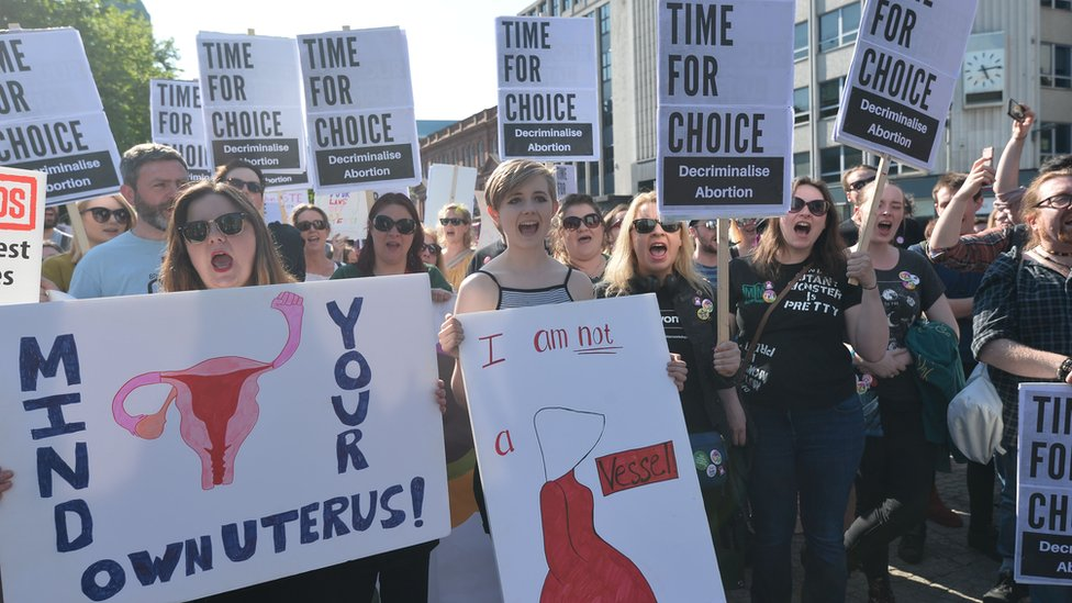 Pro-choice rally in Belfast