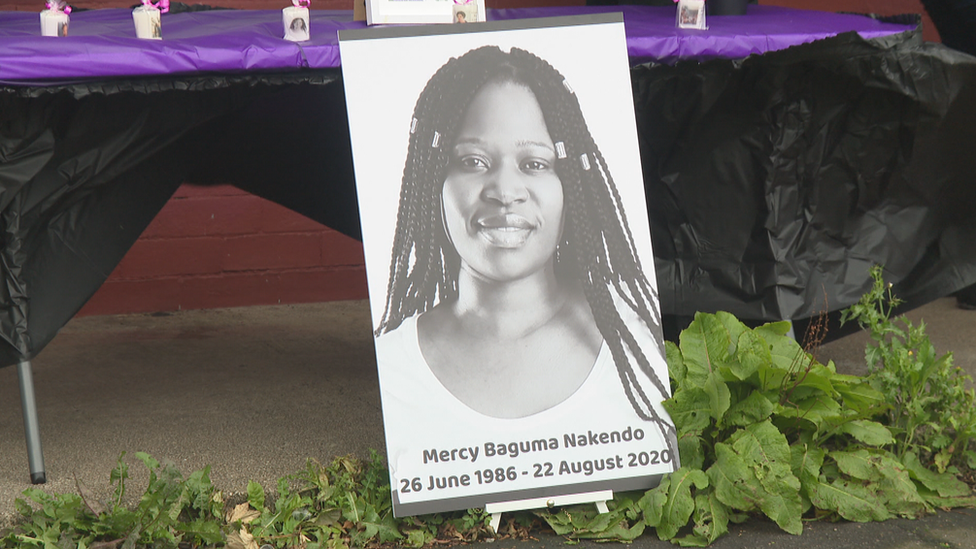 Mercy Baguma: Woman who died with crying baby in Glasgow buried in Uganda thumbnail