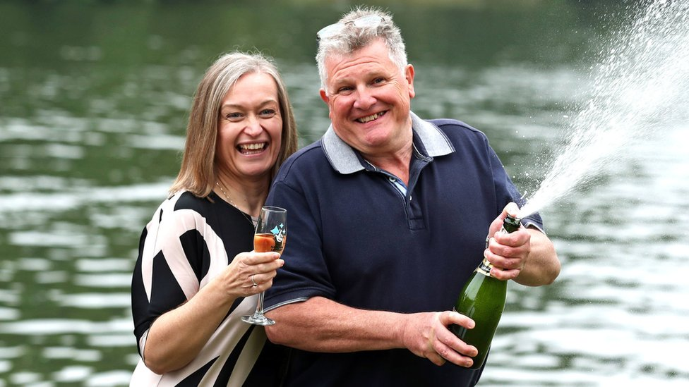 Slough National Lottery win couple spent week unaware