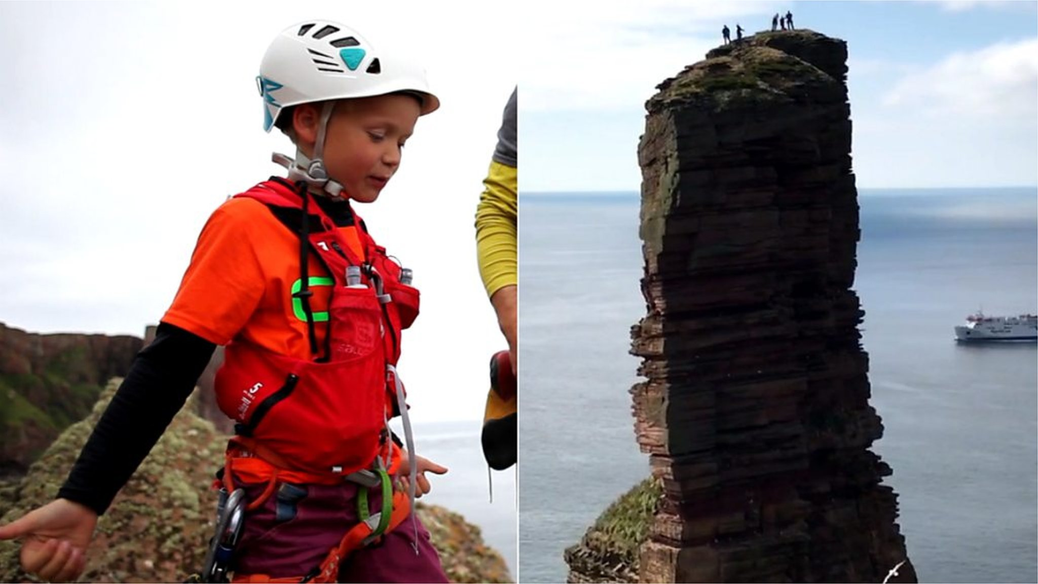 'I climbed this sea stack for my mum'