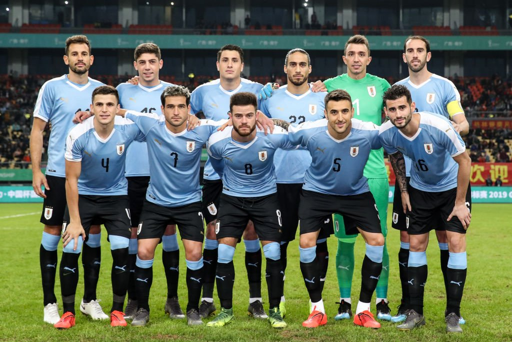 Selección de Uruguay en la pasada Copa China.