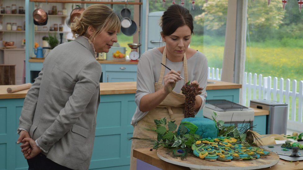 Candice with Mel Giedroyc