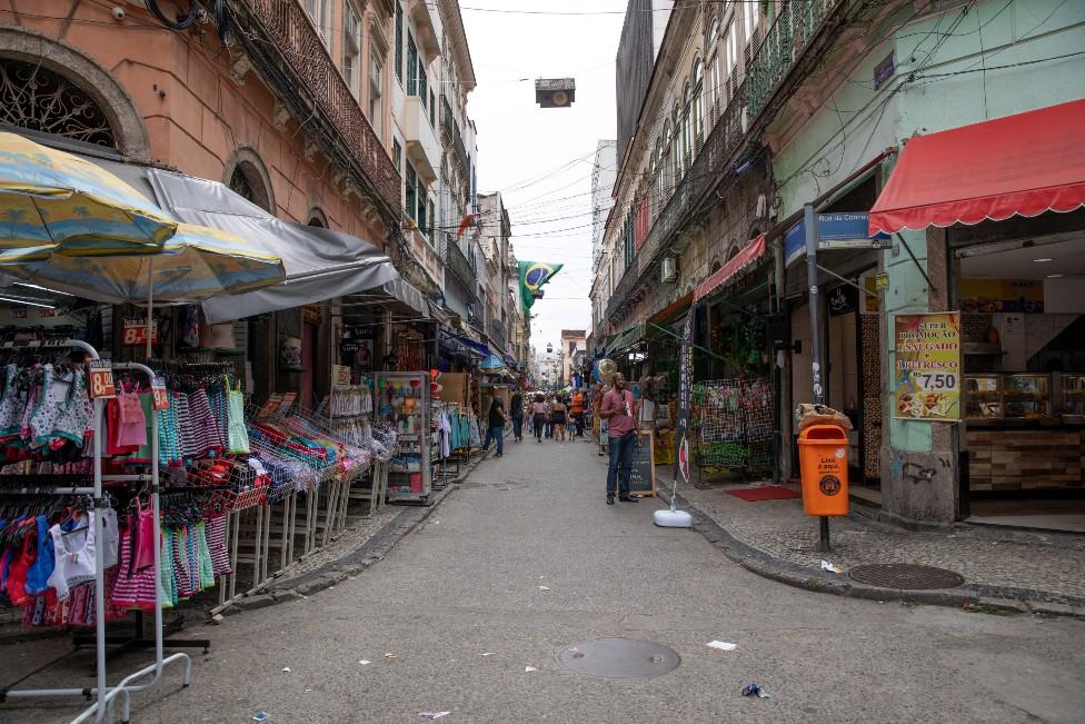 A street view near the Sambadrome
