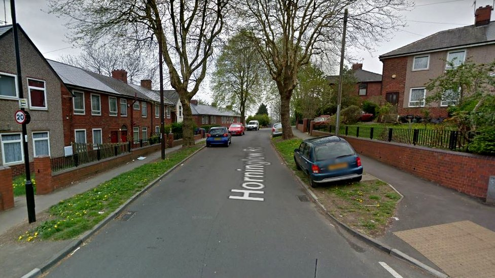 South Yorkshire Police was called to Horninglow Rd in the Firth Park area of the city just after midnight.