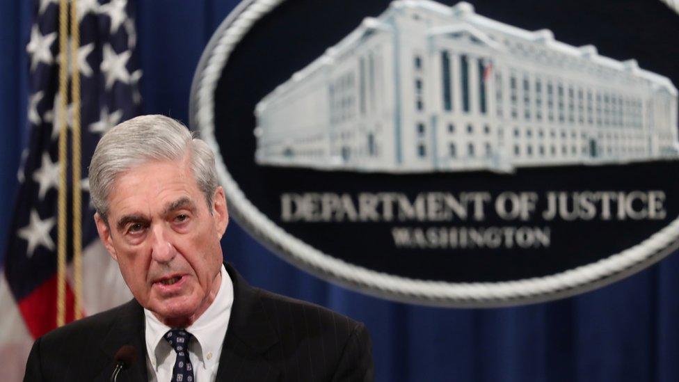 El fiscal especial de Estados Unidos Robert Mueller realiza en mayo pasado una declaración sobre su investigación de la presunta intromisión rusa en las elecciones presidenciales de 2016 en Estados Unidos.
