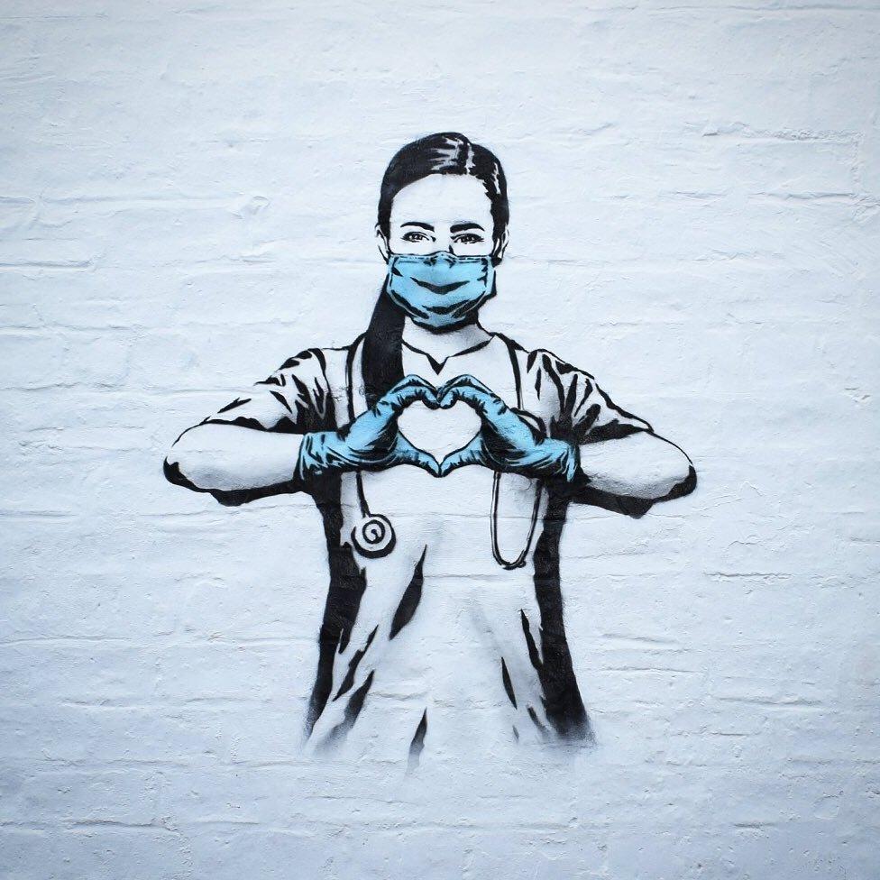 Coronavirus Who Is Behind Glasgow S Covid Street Art Bbc News