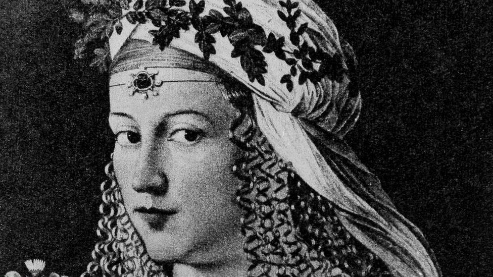 Lucrecia Borgia retratada por pintor Bartolomeo Veneto