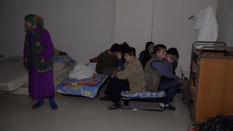 El sótano de un hotel usado como refugio contra las bombas