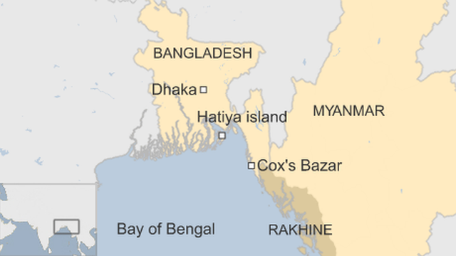 Thengar Char is too remote to appear on maps, but is next to Hatiya island