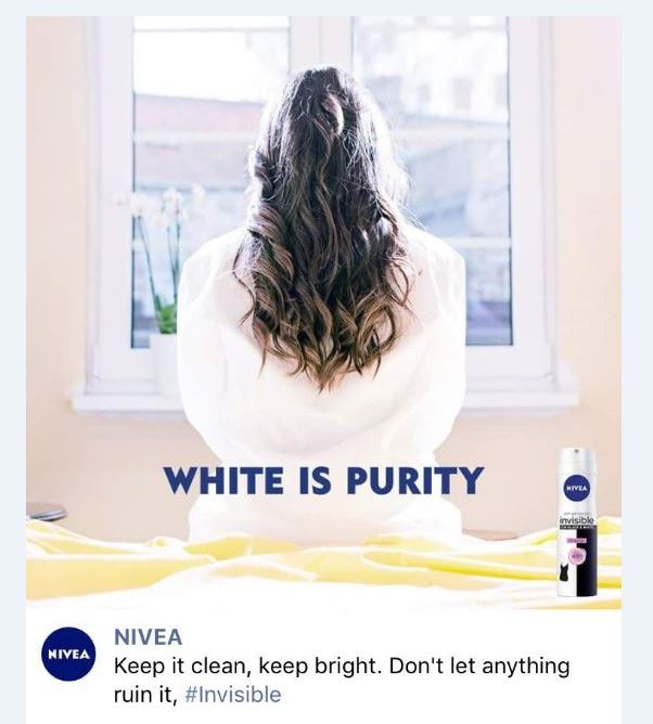 Nivea removes 'white is purity' deodorant advert branded 'racist' - BBC News