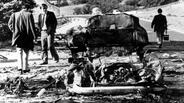 Scene of the Miami Showband massacre in 1975