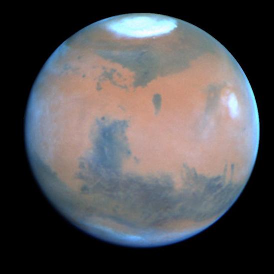 Imagen de Marte captada por el telescopio espacial Hubble