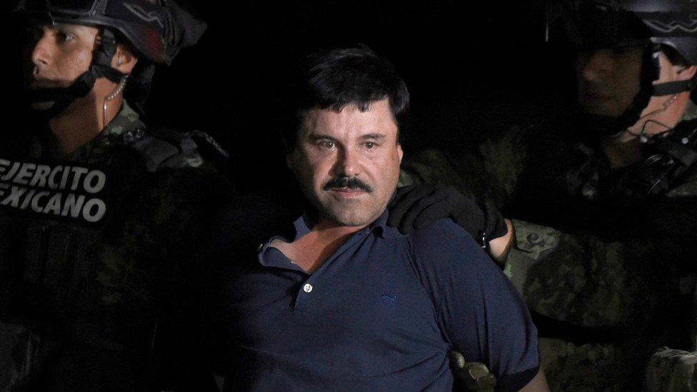 Hoakin El Čapo Guzman u trenutku hapšenja u Meksiku