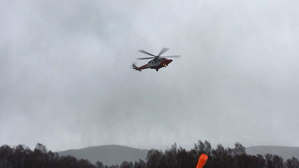 Coastguard helicopter involved in rescue effort