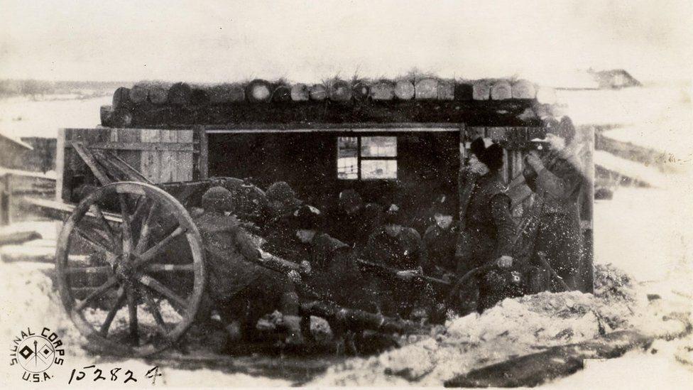 साइबेरिया में अमरीकी सैनिक