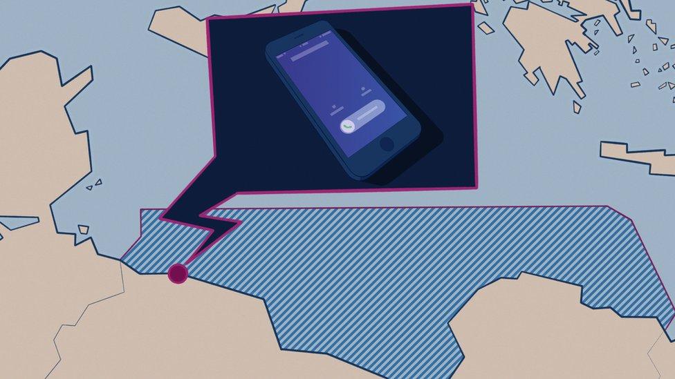 Ilustración de un teléfono.
