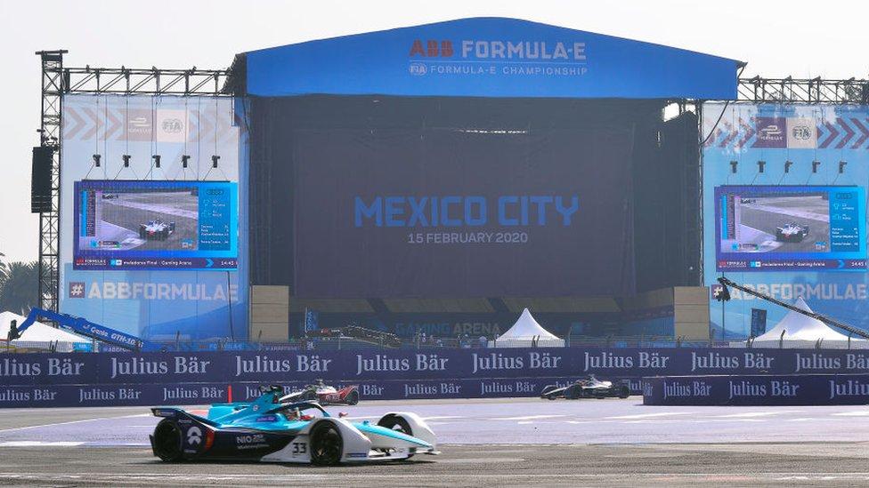 Carrera de Fórmula E celebrada en México.