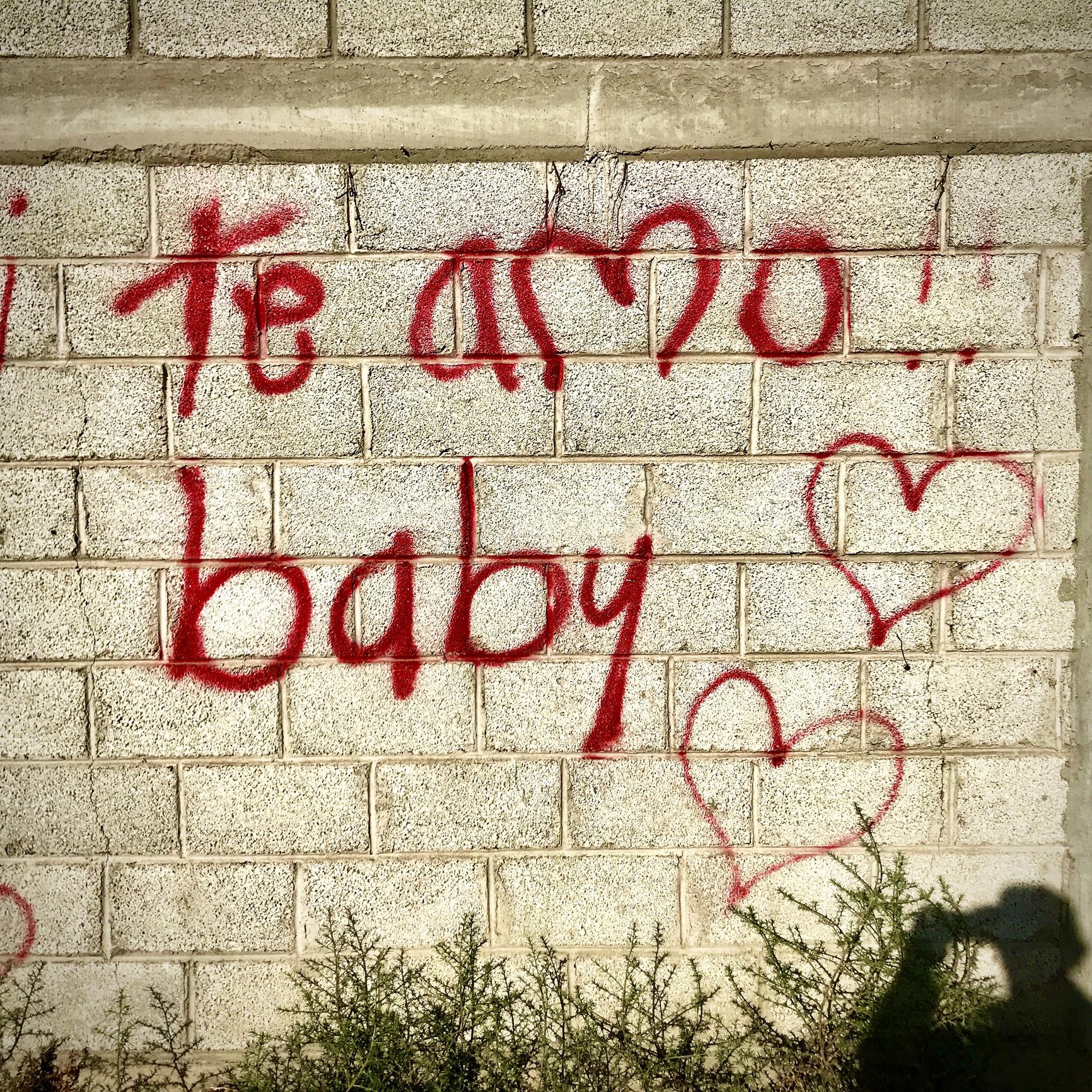 Grafiti de Te amo baby.
