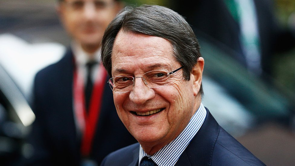 Cypriot President Nicos Anastasiades in Brussels
