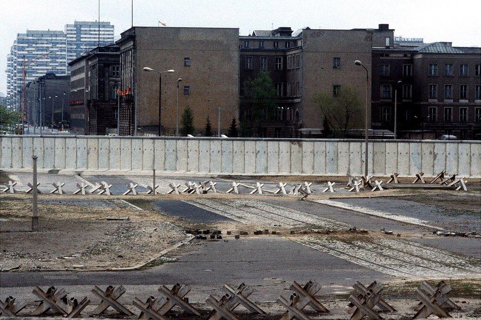 Berlin Wall view in 1984