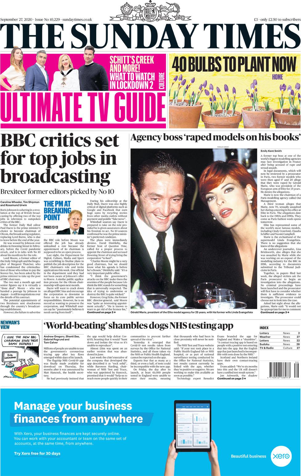 Newspaper headlines: Johnson 'faces Covid revolt', and Charles' warning - BBC News