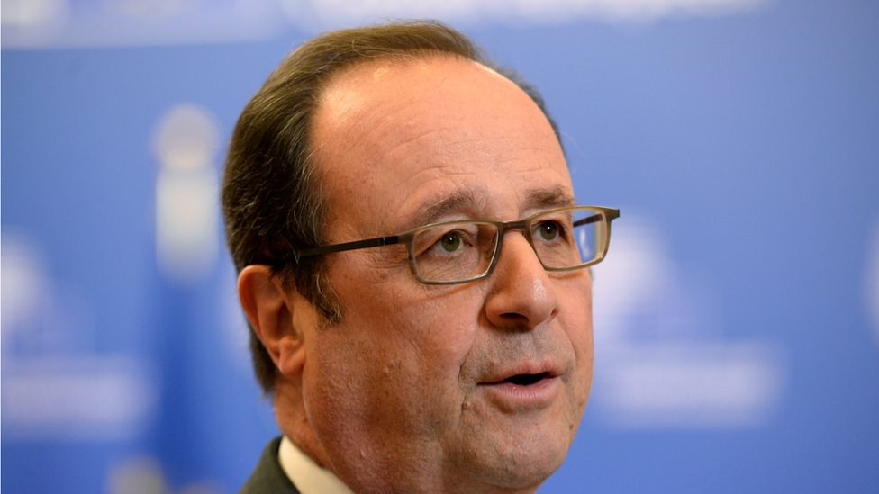 Francois Hollande at Brussels summit - 10 March