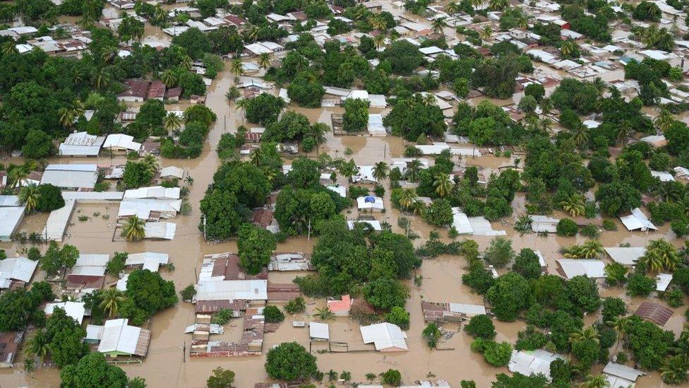 Una inundación en Honduras