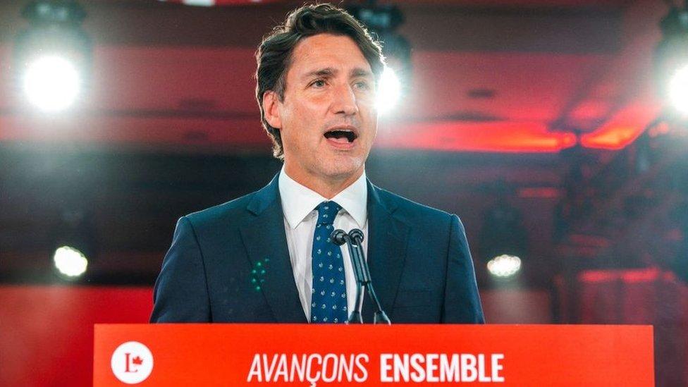 Discurso de Trudeau en la noche electoral