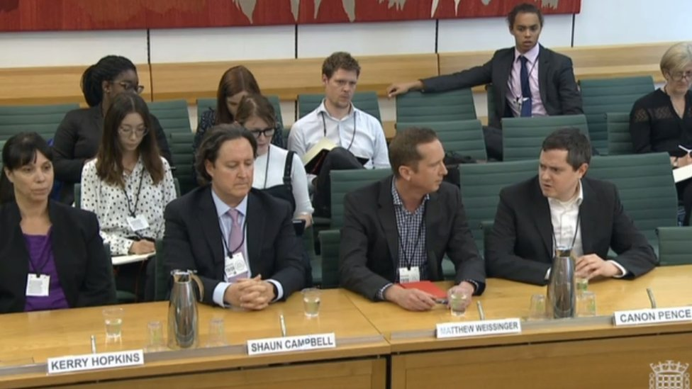 Representatives of Epic Games and Electronic Arts at the DCMS committee hearing