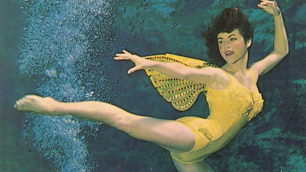 A legendary 'mermaid' still swimming at 78