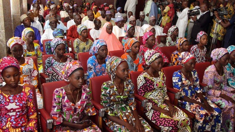 Twenty-one girls were released last October