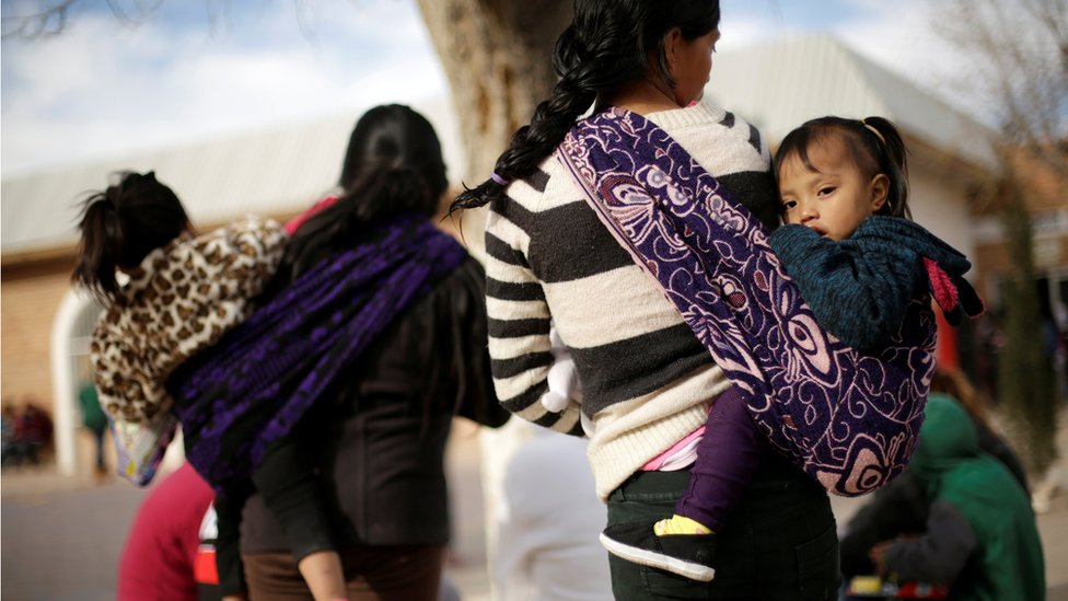Migrants from Central America, sent back to Mexico to wait for their asylum court hearing