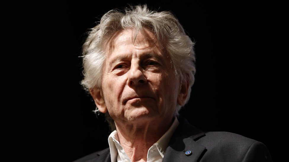 Roman Polanski on stage after the preview of his film in November 2019