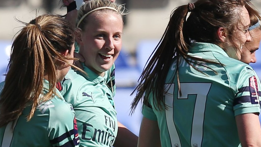 Arsenal thrash Liverpool to move top of WSL