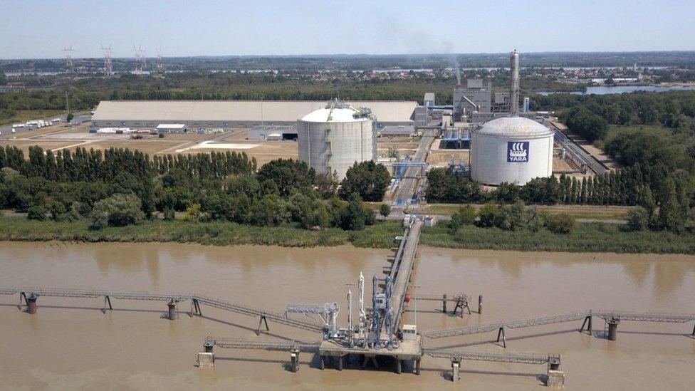 法國硝酸銨工廠俯瞰