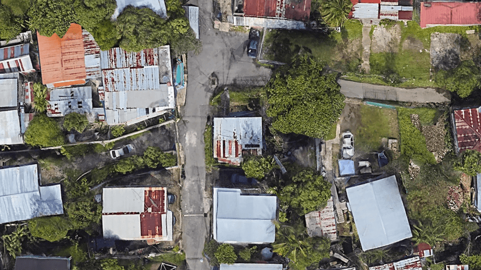 Aerial image of Catano, Puerto Rico before Hurricane Maria