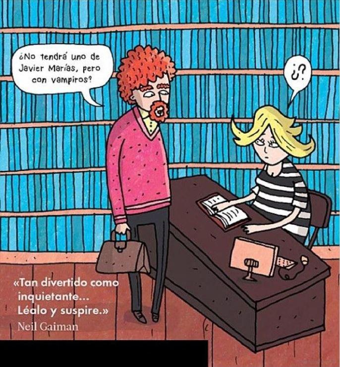 """Portada de la edición en español de """"Cosas raras que se oyen en las librerías"""", de Jen Campbell"""