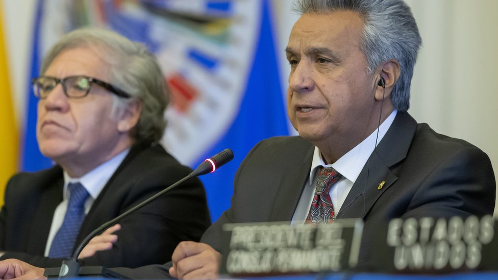 Lenín Moreno y Luis Almagro