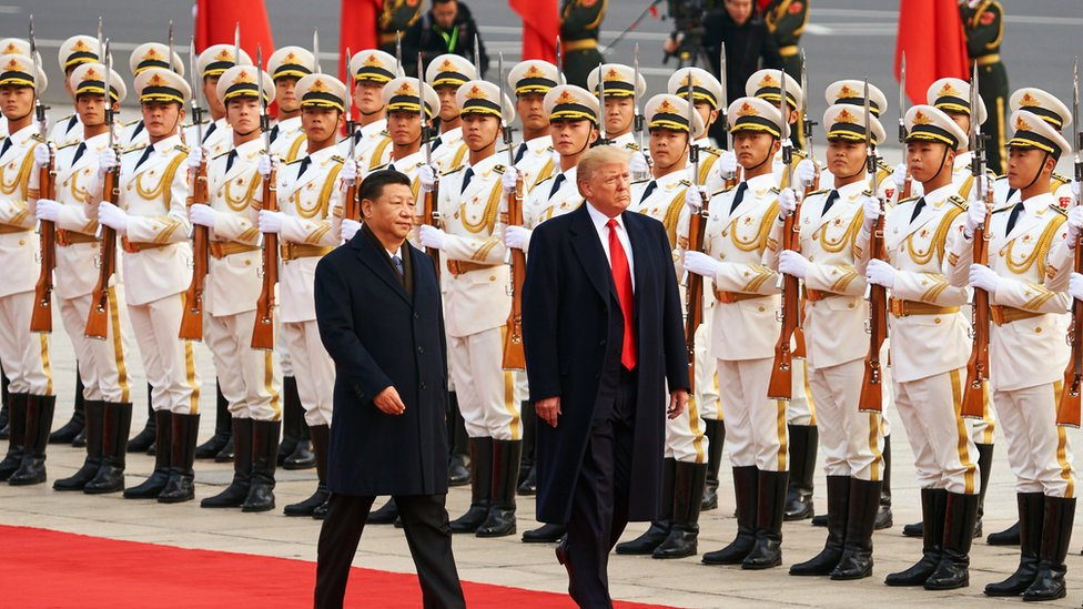 China's President Xi Jinping and US President Donald Trump meet in China