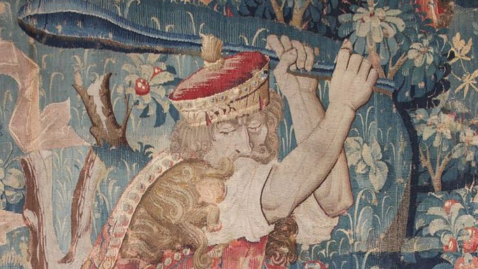 Montacute House tapestry moved after colour fade fears